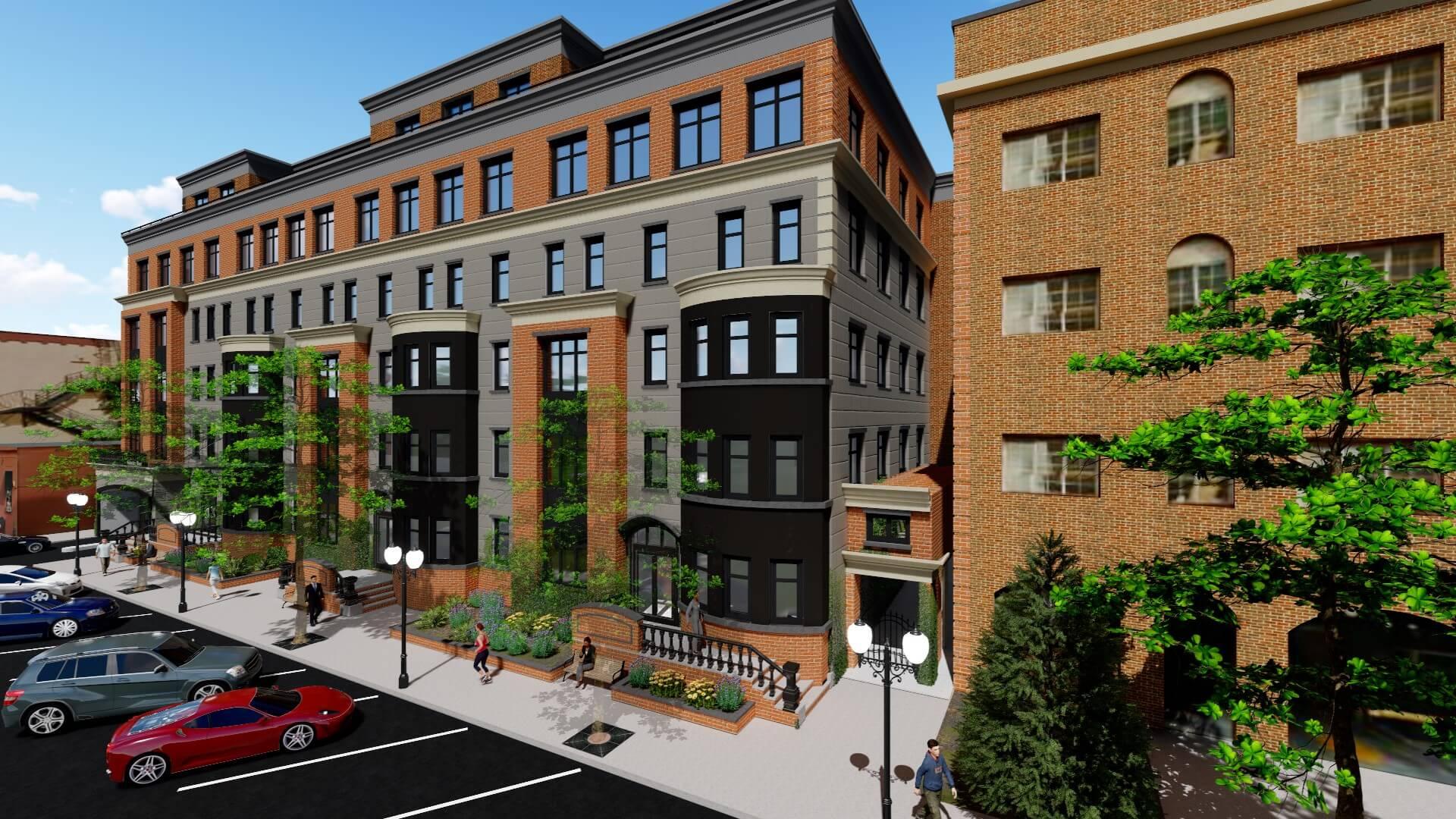 Proposed multi family housing unit f j rawding for Multi family living